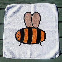Bee Face Cloth, Bee Flannel, Wash Cloth, Children's Gift, Bath Accessories