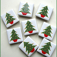 Christmas Tree Magnet, Xmas, Fridge Magnet, Stocking Filler, Cracker Filler,