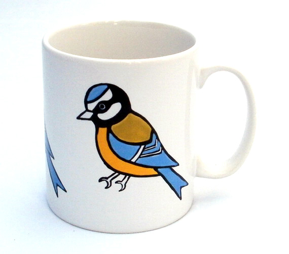 Blue Tit Mug, Bird Mug, Tea Mug, Men's Gift, Gift for Mum, Coffee Mug