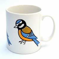 Blue Tit Mug, Bird Mug, Tea Mug, Men's Gift, Gift for Mum,