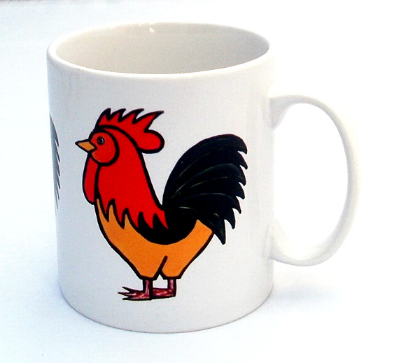 Cockerel Mug, Chicken Mug, Birds, Tea Mug, Men's Gift, Gifts for Mum, Coffee Mug