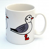 Seagull Mug, Bird Mug, Tea Mug, Men's Gift, Gifts for Mum