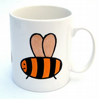 Bee Mug, Tea Mug, Men's Gift, Gifts for Mum, Children's Gift