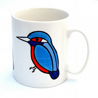 Kingfisher Mug, Bird Mug, Tea Mug, Men's Gift, Gifts for Mum