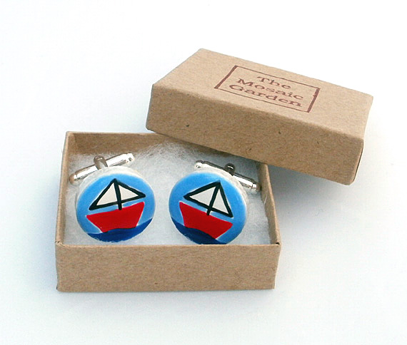 Sailing Boat Cufflinks, Nautical Cufflinks, Men's Gifts, Gift for Dad, Wedding