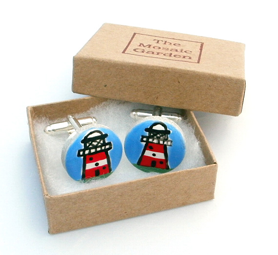 Lighthouse Cufflinks, Nautical Cufflinks, Men's Gifts, Gift for Dad, Wedding
