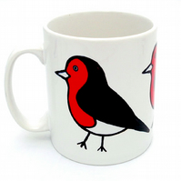 Robin Mug, Bird Mug, Tea Mug, Men's Gift, Gifts for Mum, Coffee Mug
