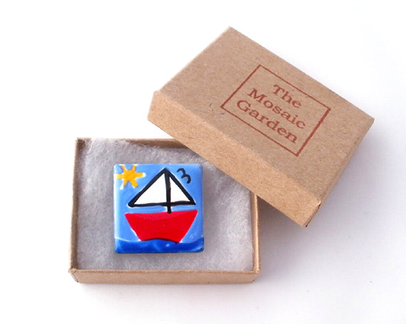 Boat Brooch Badge, Sailing Boat, Nautical Badge, Gifts for Mum, For Her,
