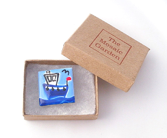 Fishing Boat Brooch, Boat Badge, Sailing Brooch Badge, Gifts for Mum