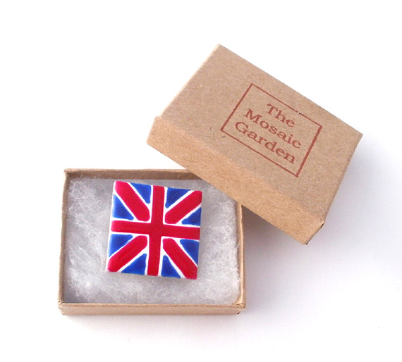 Union Jack Brooch, Union Jack Badge, Pin Badge, Gifts for Mum, For Her