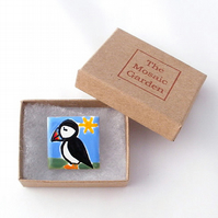 Puffin Brooch Badge, Bird Brooch, Gifts for Mum, For Her, Gift for Girls