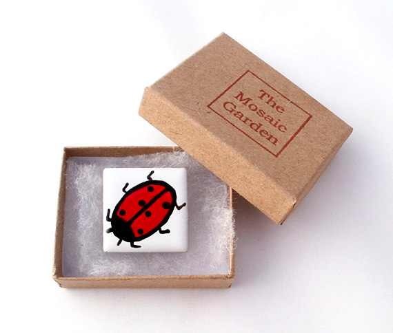 Ladybird Brooch, Ladybird Badge, Pin Badge, Gifts for Mum, For Her