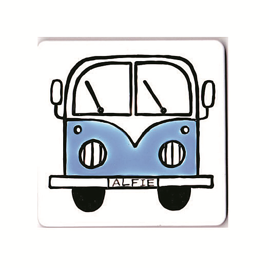 Personalised Campervan Coaster, Combi, Red, Blue, Pink, Green, Purple, Yellow