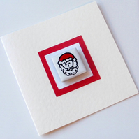 Santa Christmas Card with Magnet, Father Christmas, Xmas Card, Greeting card