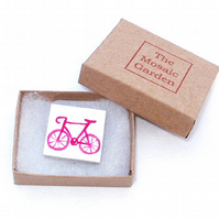 Bicycle Brooch Badge, Bike Pin, Gifts for Mum, For Her, Gift for Girls, Cycling