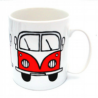Red Campervan Mug, Combi Mug, Tea Mug, Coffee Mug, Men's Gift, For Him