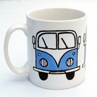 Blue Campervan Mug, Combi Mug, Tea Mug, Coffee Mug, Men's Gift,For Him