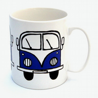 Purple Campervan Mug, Combi Mug, Tea Mug, Coffee Mug, Men's Gift,For Him