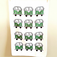Campervan Tea Towel Green, Combi, Splitscreen, Kitchen, Gifts for Mum