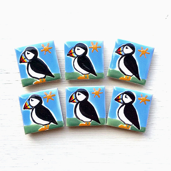 Puffin Magnet , Puffin Fridge Magnet, Bird Magnets