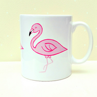 Flamingo Mug, Pink, Bird Mug, Tea Mug, Girl's Gift, Gifts for Mum, Coffee Mug
