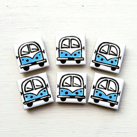 Campervan Magnet Blue, Combi Magnet, Splitscreen, Wedding Favours, Fridge Magnet