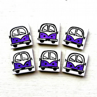 Campervan Magnet Purple, Combi, Splitscreen, Wedding Favours, Fridge Magnet
