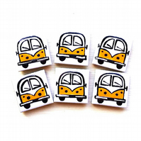 Campervan Magnet Yellow, Combi, Splitscreen, Wedding Favours, Fridge Magnet