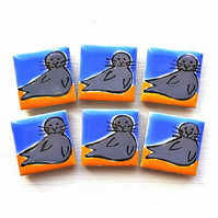 Seal Magnet, Bird Magnets, Gift for Mum, Seaside, Coast, Wildlife, Stationary