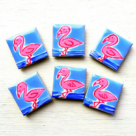 Flamingo Magnet, Bird Magnets, Gift for Mum, Girl's Gift, Pink