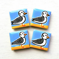 Seagull Magnet, Bird Magnets, Gift for Mum, Seaside, Coast, Beach, Seabird