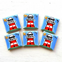 Lighthouse Magnet, Fridge Magnet, Nautical Magnet, Seaside Magnet, Stationary