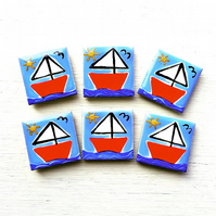 Sailing Boat Magnet, Boat Fridge Magnet, Nautical Magnet, Seaside Magnet