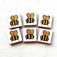 Bee Magnet, Bee Fridge Magnet, Insect Magnet, Bumble Bee, Nature,