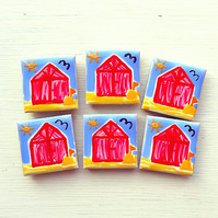 Beach Hut Magnet, Fridge Magnet, Seaside Magnet