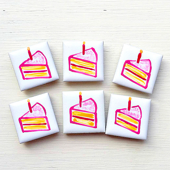 Cake Magnet, Cake Fridge Magnet, Birthday Magnet,
