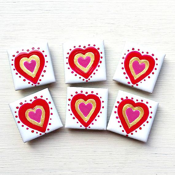 Heart Magnet, Fridge Magnet, Valentine's Gift, Wedding Favours