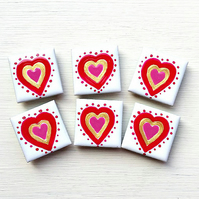 Heart Magnet, Fridge Magnet, Valentine's Gift, Wedding Favours, For Her,