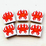 Crab Magnet, Fridge Magnet, Seaside Magnet, Coast, Beach, Sea