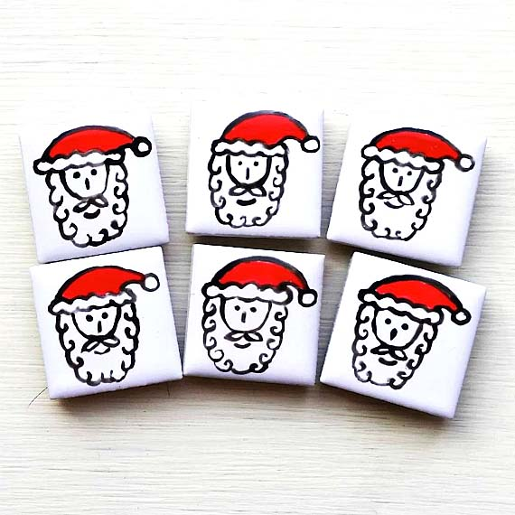 Santa Magnet, Fridge Magnet, Father Christmas, Santa Claus, Xmas
