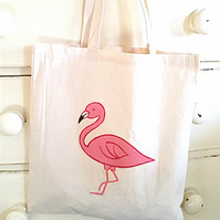 Flamingo Bag, Tote Bag, Bird Bag, Flamingo Tote, Bird Tote, Cotton Tote,