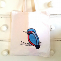 Kingfisher Bag, Tote Bag, Bird Bag, Kingfisher Tote, Bird Tote, Cotton Tote