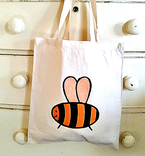 Bee Bag, Tote Bag, Bumble Bee Bag, Insects, Cotton Tote