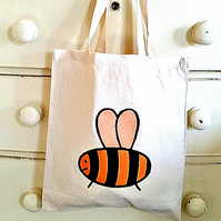 Bee Bag, Tote Bag, Bumble Bee Bag, Insects, Cotton Tote, Bag for Apiarist,