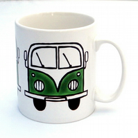 Green Campervan Mug, Combi Mug, Tea Mug, Coffee Mug, Boy's Gift, Gift for Dad