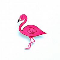 Flamingo Acrylic Brooch, Bird Brooch, Gifts for Mum, For Her, Gift for Girls