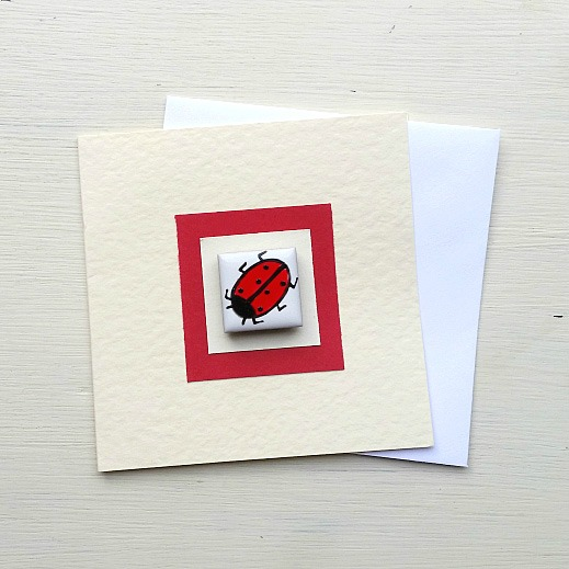 Ladybird Card, Birthday Card, Greeting Card, Blank Card, Children's Card, Magnet
