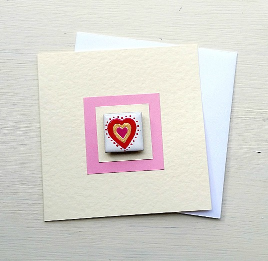 Love Heart Card, Romantic Card, Valentine's Card, Magnet Card, Greeting Card