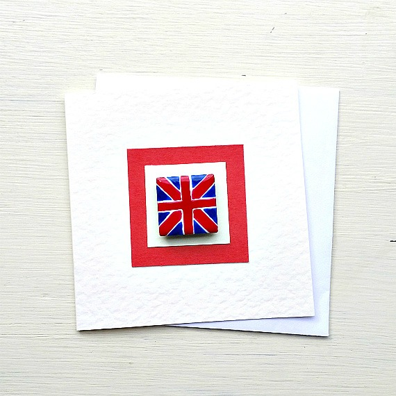 Union Jack Card, Greeting Card, Blank Card, Card for Him, Magnet Card