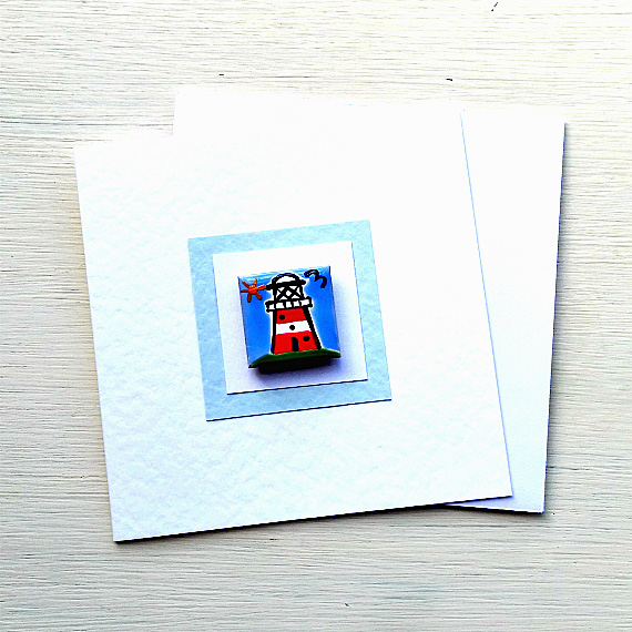 Lighthouse Card, Birthday Card, Greeting Card, Blank Card, Magnet Card, Seaside
